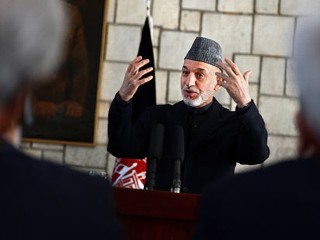 PHOTO: Afghan President Hamid Karzai answers questions during a press conference in Kabul, Afghanistan, March 4, 2013.