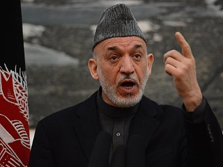 PHOTO: Afghan President Hamid Karzai speaks during a news conference at the Presidential Palace in Kabul on Jan. 14, 2013.