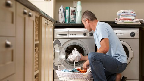 gty man chores laundry nt 120628 wblog Doing Chores Makes Many Men Happiest