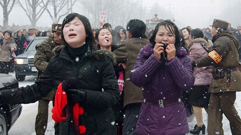 gty north korean mourners ll 120112 wblog North Korea Reportedly Punishing Insincere Mourners