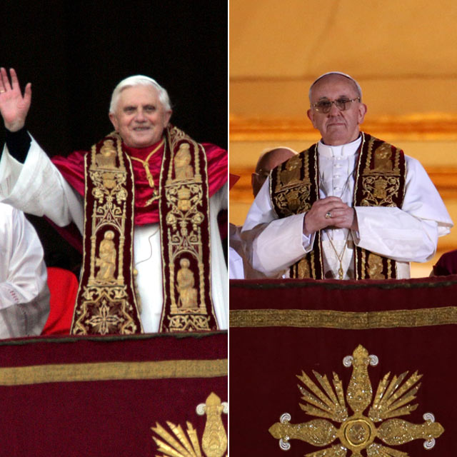 gty pope francis pope benedict xiv lpl 130313 blog Who Wore It Best: Papal Edition