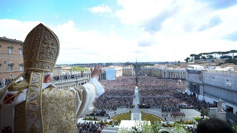 gty pope vatican back tk 130213 wblog Catholics Could Have New Pope by Palm Sunday
