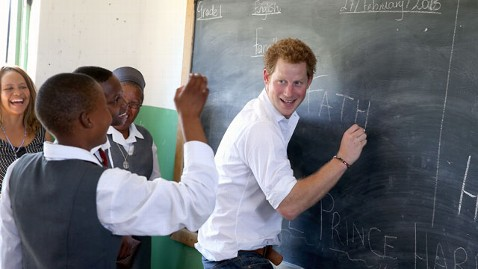 gty prince harry chalkboard lesotho thg 130227 wblog Prince Harry In Class: From Cooking to Sign Language