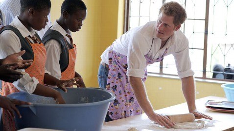 gty prince harry rolling dough lesotho thg 130227 wblog Prince Harry In Class: From Cooking to Sign Language