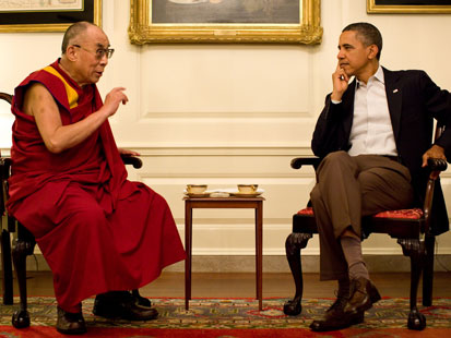 ht Barack Obama Dalai Lama jt 110716 main Despite China's Objection, Obama Meets with Dalai Lama