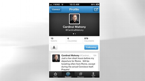 ht cardinal mahony tweet mobile jt 130223 wblog Cardinal Roger Mahony Tweets, But Not About Deposition