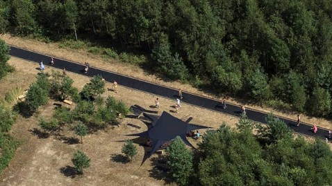 ht fast track aerial ll 121129 wblog 170 Foot Long Trampoline Installed in Russian Forest