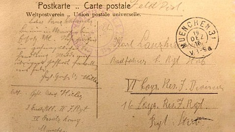 ht hitler postcard jp 120503 wblog Hitler Post Card From World War I Found
