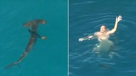 ht naked man surrouned by shark mr 120810 wblog Australian Fisherman Rescued from CirclingShark