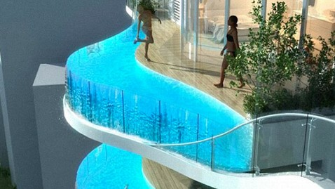 PHOTO: In India, Apartments With Balcony Pools - ABC News