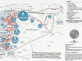 PHOTO: The Humanitarian Snapshot of Syria as of April 25, 2013.