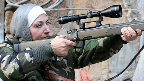 nc female sniper guevara dm 130206 wblog  Syrian Mother Fighting on the Front Lines