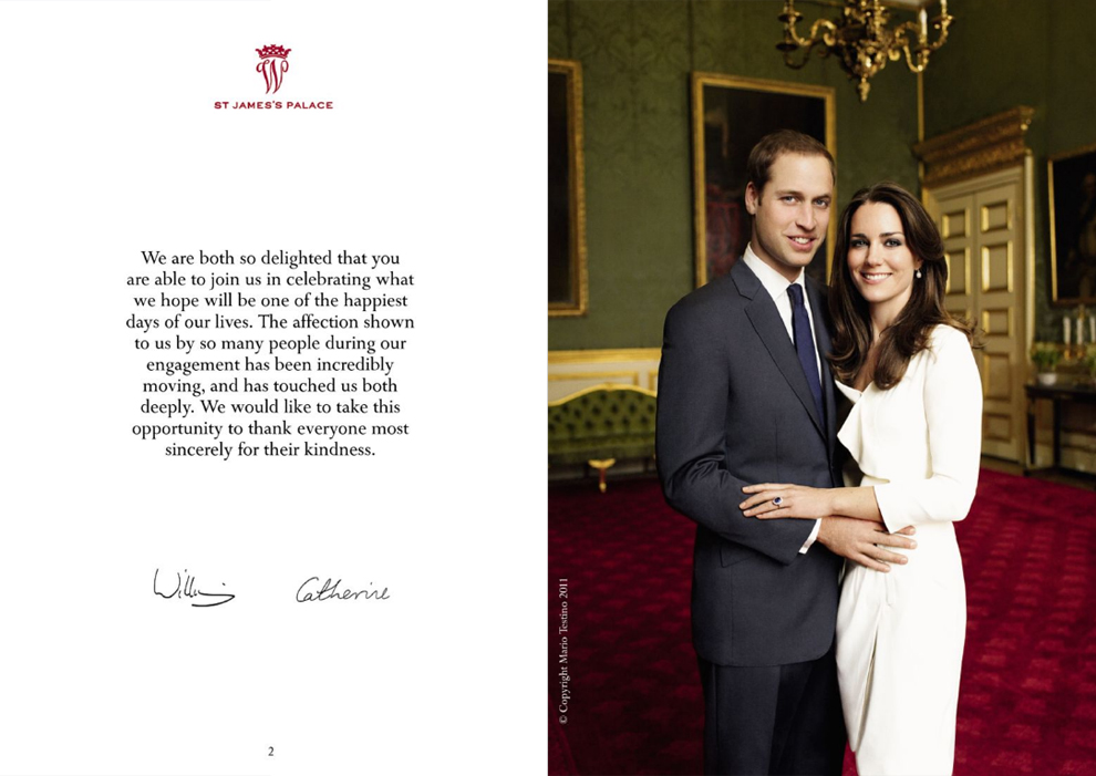 Official Royal Wedding Pictures.Official Royal Wedding Program Prince William And Catherine