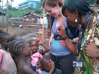 PHOTO: Pregnant OBGYN, Dr. Erin Carey, traveled to Sierra Leone with ABC News to look at maternity care.
