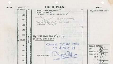ht apollo 11 flight plan ll 130506 wblog Apollo 11 Memorabilia Auction Set