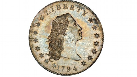 ht coin mi 130129 wblog Rare Silver Dollar Coin Sets World Record Auction Price