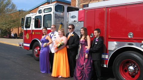 ht fire chief son and prom date ml 130516 wblog Fire Chief Under Fire for Using Fire Engine as a Prom Limousine