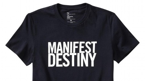 ht gap manifest destiny nt 121018 wblog Gap Pulls Manifest Destiny T Shirt From Shelves After Social Media Outcry