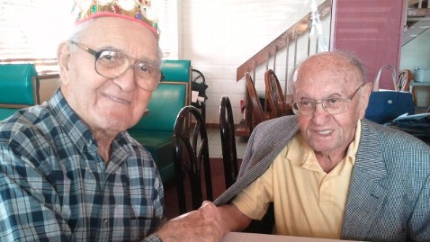 ht joseph katz al spiegal ll 121001 wblog Friends for 91 Years Celebrate 100th Birthdays Together