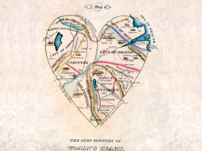 ht map womans heart illustration thg 111118 main 19th Century Map: Womens Hearts Filled With Selfishness, Affection