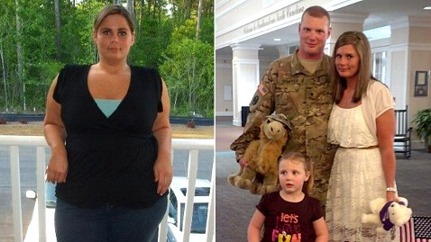ht misty shaffer lpl 130520 wblog Army Wife Surprises Husband With 96 Pound Weight Loss on His Return From Afghanistan