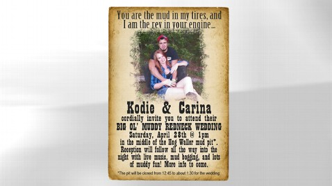 ht redneck wedding jrs 120501 wblog Redneck Florida Couple Hold Wedding in Mud Pit