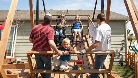 ht vertical swing 1 ll 130506 wblog 3,000 Pound Wheelchair Swing Built for Twins with Cerebral Palsy