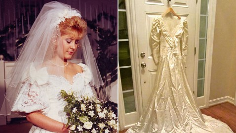 ht wedding dress swap kim jones lpl 121212 wblog Bride Opens Wedding Gown After 26 Years to Find Its Not Hers