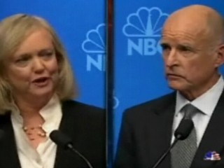 Video: California Gubernatorial debate with Meg Witman and Jerry Brown.