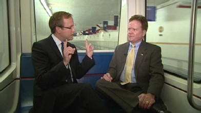 110311 pol karl webb subway wb Swing Senator: Will Jim Webb Help Obama in Virginia?