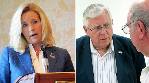 AP Liz Cheney Mike Enzi nt 130718 16x9 608 Liz Cheney Ends Wyoming Senate Bid, Citing Family Health Concerns