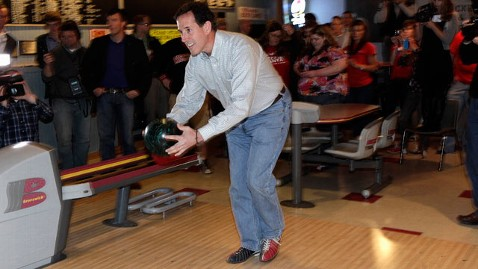 Ap rick santorum bowling thg 120329 wblog 9 Signs Your Campaign Dreams Are Over