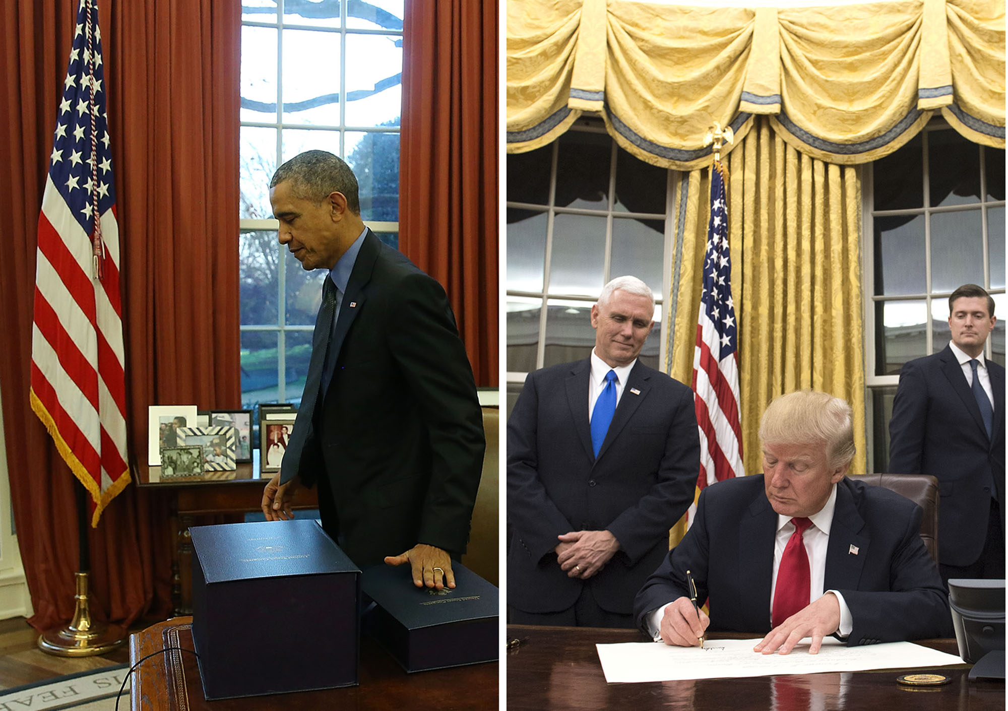 obamas oval office. PHOTO:President Obama In The Oval Office 2015, Left, President Trump January 2017. - ABC News Obamas O