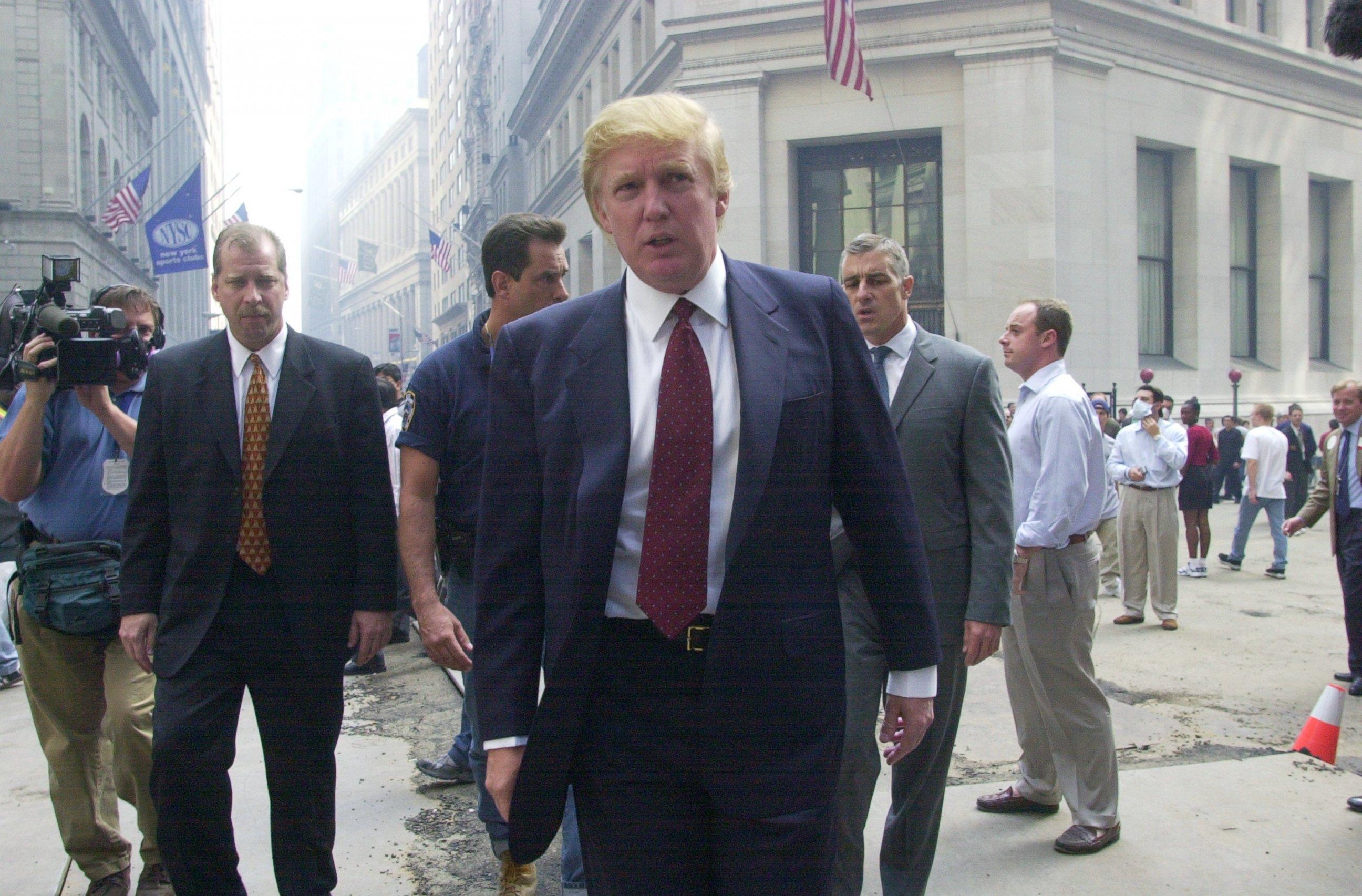 Photo Donald Trump Speaks Outside The New York Stock