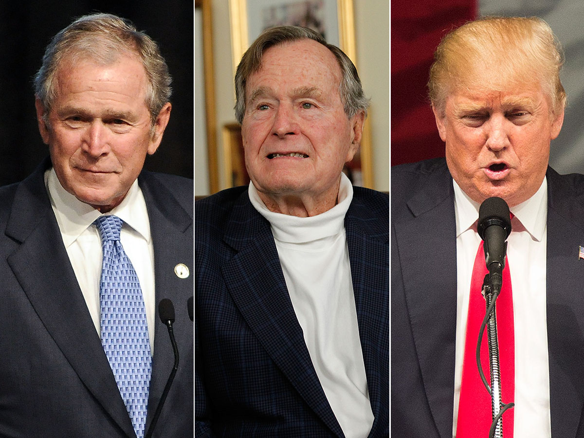 Image result for Images of Trump vs. George H.W. Bush