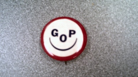 abc 1950s smiley gop lapel pin ll 130125 wblog PM Note: Be Happy, GOP, So Long, Saxby, Immigration Ho!, Recess Appointments Rejected