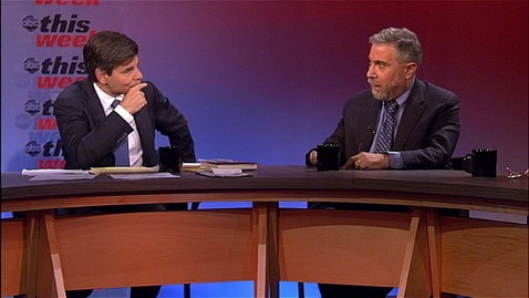 abc TW Panel Krugman and GS jt 120429 wblog Paul Krugman: Ben Bernanke Has Been Assimilated by the Borg