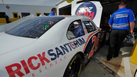 abc TW SantorumNascar jt 120226 wblog Santorum Strategy Succeeds Somewhat at NASCAR, but What About Michigan?