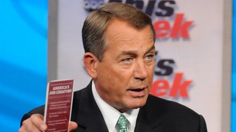 abc TW  John Boehner2 jt 120129 wblog As Gridlock Consumes Congress, Boehner Says House Has Done its Job