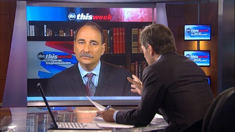 abc TW axelrod and GS jt 120610 wblog David Axelrod: Mitt Romney Living on a Different Planet on Economy