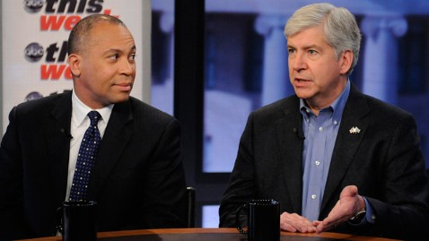abc TW rick snyder deval patrick 1 jt 120226 wblog The Significance of Michigans Battle (The Note)