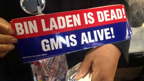 abc binladen dead GM sticker nt 120906 wblog Live Blog: Democratic National Convention 2012; Barack Obama, Joe Biden