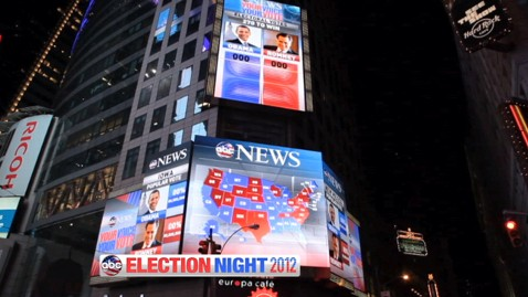 abc election night 3 121101 wblog ABC News to Transform the Crossroads of the World in Times Square into ABC News Election Headquarters