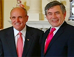 Rudy Giuliani meeting Gordon Brown [Credit: ABC News]