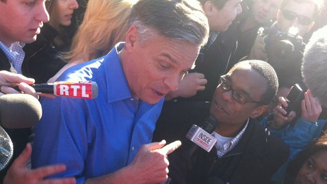 abc huntsman inWard 1 nh2 thg 120110 wblog On the Trail: New Hampshire Polling Place Overtaken by Media Circus