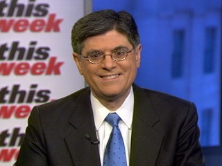 "PHOTO: White House chief of staff Jacob Lew is interviewed on ""This Week"""