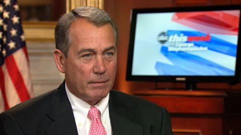 abc john boehner nt 120518 wblog John Boehner on GOP House: Hard to Keep 218 Frogs in a Wheelbarrow