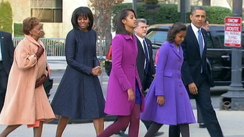 abc obama Family car first look inauguration thg 130121 wblog First Family of Fashion Dresses for Inauguration