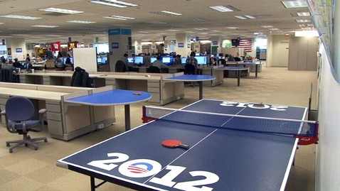 abc ping pong nt 111121 wblog Obama Visits Chicago Campaign Headquarters, Then Hes Off to Raise Cash