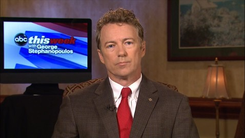 abc rand paul this week jt 130526 wblog Sen. Rand Paul Questions Drone Policy, Says Scandals Threaten President Obamas Moral Authority